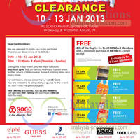 Read more about KL Sogo Warehouse Clearance Sale 10 - 13 Jan 2013