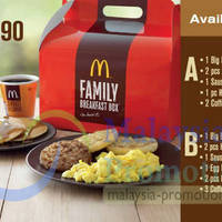 Check out McDonald's money saving Family Breakfast Box, available every morning until 11am at all McDonald's outlets
