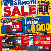 Courts is having a Mammoth Sale with up to 80% off for a limited period.