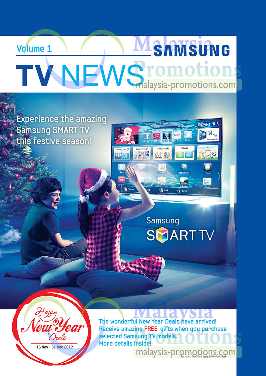 samsung smart tv new year promotions samsung new year led tv promotion offers 15 nov 2012 31. Black Bedroom Furniture Sets. Home Design Ideas