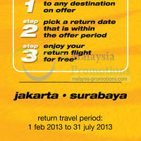 Read more about Tiger Airways Return For Free From Indonesia Promotion 18 - 22 Jan 2013