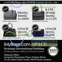 Read more about iMyBags Space Branded Handbags Clearance Sale @ Kenanga Intl Building 18 - 20 Jan 2013
