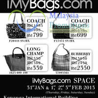 Read more about iMyBags Space Branded Handbags Clearance Sale @ Kenanga Intl Building 31 Jan - 3 Feb 2013