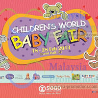 Read more about KL Sogo Children's World Baby Fair 18 - 28 Feb 2013