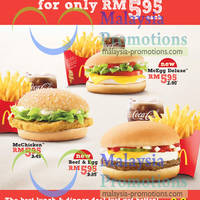 McDonald's lunch & dinner deal in town has just got better. Now you have three great choices going for only RM5.95 each