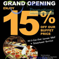 Read more about Seoul Garden 15% Off Adult Buffet @ Penang Queensbay Mall 12 Feb - 31 Mar 2013