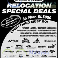 Read more about Sports Direct Relocation Special Deals @ KL SOGO 16 - 28 Feb 2013