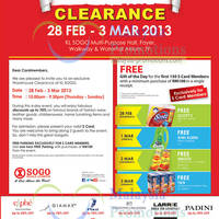Read more about KL Sogo Warehouse Clearance Sale Price List Offers 28 Feb - 3 Mar 2013