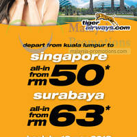 Read more about Tiger Airways From RM50 Air Fares Promo 11 - 13 Mar 2013