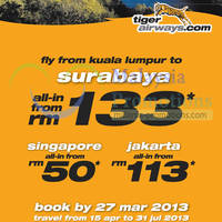Read more about Tiger Airways Travel & Discover Air Fares Promotion Offers 21 - 27 Mar 2013