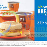Enjoy NEW RM4 Weekday Breakfast Special sets at McDonald's! Choose from 3 great starts to your day.