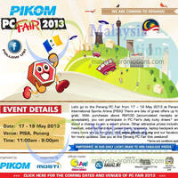 Read more about Pikom PC Fair 2013 @ PISA 17 - 19 May 2013