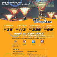 Read more about Tiger Airways Promotion Air Fares 30 May - 3 Jun 2013