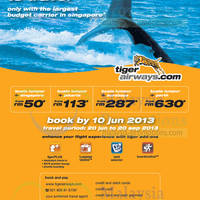 Read more about Tiger Airways Promotion Air Fares 4 - 10 Jun 2013