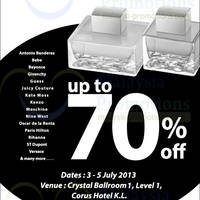 Read more about Branded Fragrances & Cosmetics Warehouse Sale @ Corus Hotel KL 3 - 5 Jul 2013