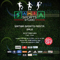 Read more about Samba Sports Up To 50% Off Fiesta Sale @ Petaling Jaya 26 Oct 2013