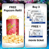 Read more about Cathay Cineplexes Buy 3 Get 1 FREE Promo (Plus, FREE Popcorn Refill) 1 - 30 Nov 2013