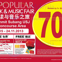 Read more about Popular Book Fair Up To 70% Off @ Summit Subang USJ 15 - 24 Nov 2013