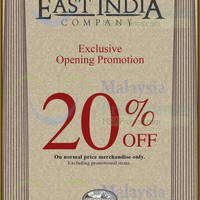 Read more about East India Company 20% OFF Opening Promo @ Cheras Sentral 25 Jan 2014