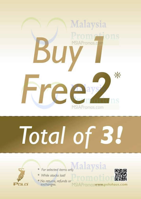 Buy 1 Free 2 Selected Items