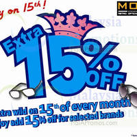 Read more about MOG Eyewear 15% OFF Promo 15 Oct 2014