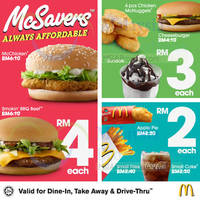 Your favourites for as low as RM2, RM3 & RM4, all day, everyday!