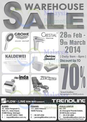 flow line bathroom accessories warehouse sale klang penang kl 28 feb 9 mar 2014 - Bathroom Accessories Klang