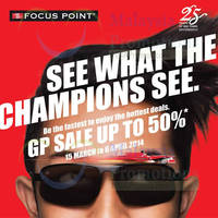 Read more about Focus Point Vision Up To 50% OFF GP SALE 15 Mar - 6 Apr 2014
