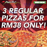 Read more about Pizza Hut Delivery / Takeaway RM38 For 3 Family Favourites Pizza 24 Mar 2014
