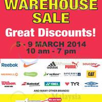 Read more about Royal Sporting House Warehouse SALE @ Subang Jaya Selangor 5 - 9 Mar 2014