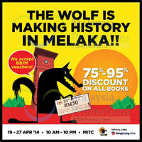 Read more about Big Bad Wolf Books SALE Event @ MITC Melaka 19 - 27 Apr 2014