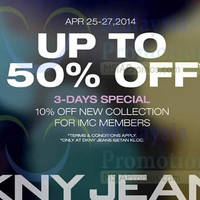 Read more about DKNY Jeans Up to 50% OFF Promo @ Isetan KLCC 25 - 27 Apr 2014