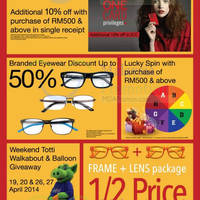 Read more about Focus Point Promotions & Activities @ 1 Utama 16 - 27 Apr 2014