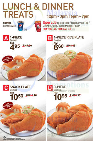 KFC NEW Lunch & Dinner Treats 15 Apr 2014