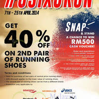 Read more about Royal Sporting House RSH 40% OFF 2nd Pair Running Shoes 7 - 25 Apr 2014