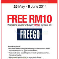 Read more about Reject Shop FreeGo FREE RM10 Voucher Promo 26 May - 8 Jun 2014