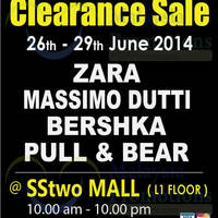Read more about Zara, Massimo Dutti & More Clearance Sale @ SSTwo Mall 26 - 29 Jun 2014