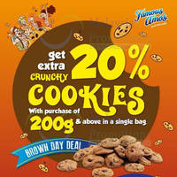 Read more about Famous Amos Buy 200g & Get FREE 20% Extra Cookies (Tuesdays) 17 Jun 2014