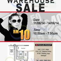 Read more about Focus Point Warehouse SALE @ Petaling Jaya 11 - 14 Jun 2014