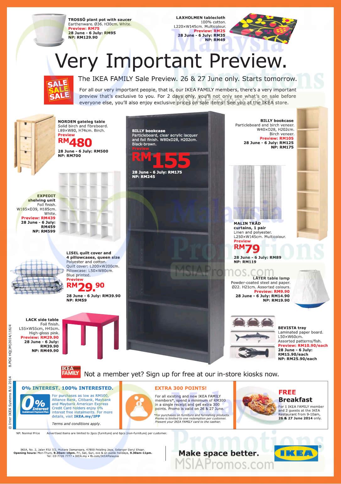 Ikea Sale 28 Jun 6 Jul 2014