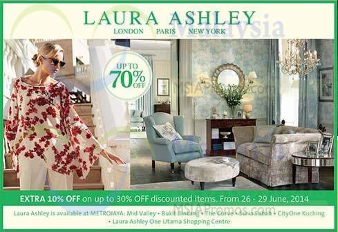 Laura Ashley sale now on with up to 70% off! Huge discounts on Bedroom, Living room furniture, Home furnishings and more from the biggest online sales & clearance outlet.