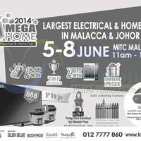 Read more about Mega Home Electrical & Home Fair @ MITC Malacca 5 - 8 Jun 2014