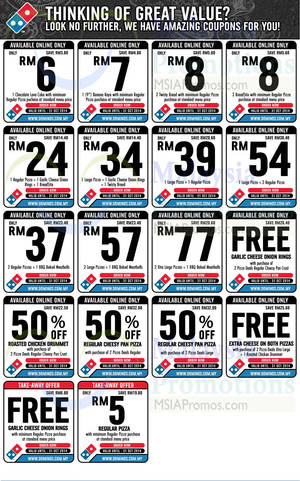Dominos coupons half price