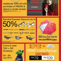 Read more about Focus Point Eye Care Carnival @ 1 Utama 2 - 13 Jul 2014