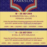 Read more about Parkson Mega Raya SALE @ Melaka International Trade Centre 11 - 23 Jul 2014