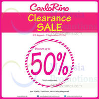 Read more about Carlo Rino Clearance SALE @ Mid Valley Megamall 29 Aug - 1 Sep 2014