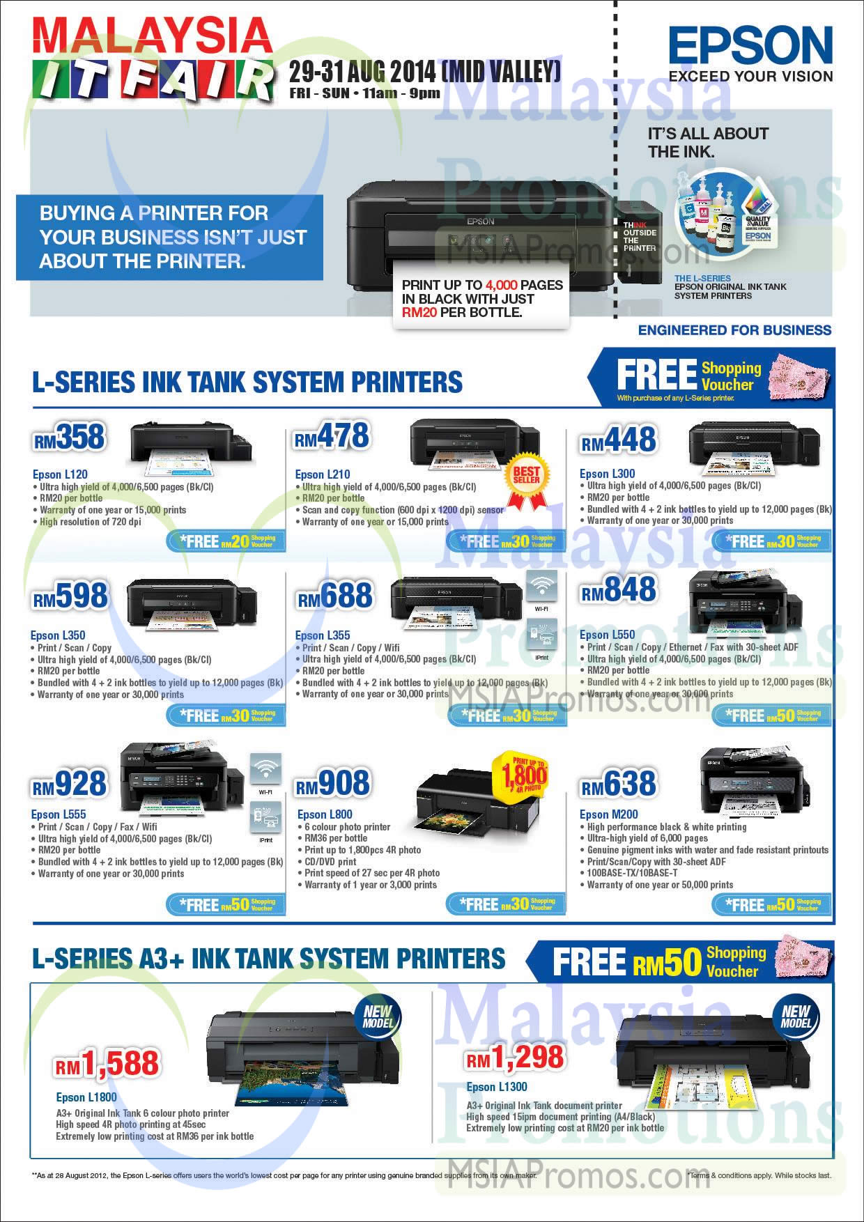 awesome epson l all in one multi function colored inkjet printer with lowest cost per page color printer