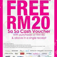 Read more about Sasa Free RM20 Cash Voucher Promo 6 Aug - 1 Sep 2014