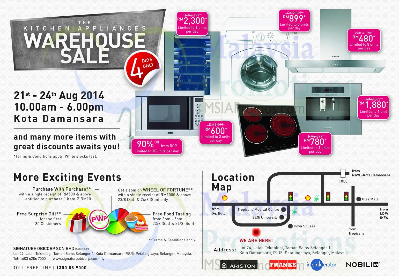 signature obicorp appliances warehouse sale
