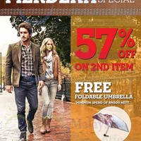 Read more about Timberland 57% Off 2nd Item Promo 26 Aug - 7 Sep 2014